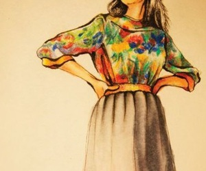 drawing, fashion, and model image