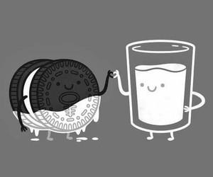milk, oreo, and food image