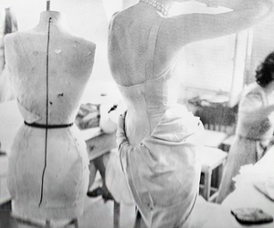 backstage, black and white, and dior image