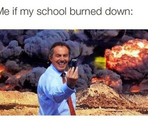 school, funny, and selfie image