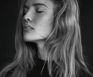 black and white, face, and hair image