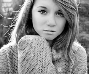 beautiful, black and white, and blond image