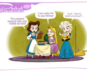 pocket princesses, disney, and elsa image