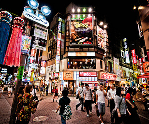 japan, lights, and photography image