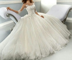 wedding, wedding dress, and white image