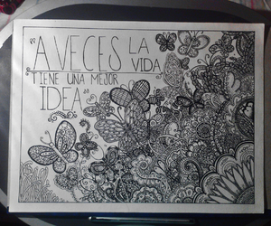 doodle, draw, and flowers image