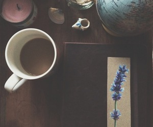 coffee, indie, and flowers image