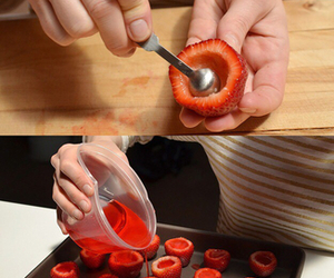 strawberry, shot, and diy image