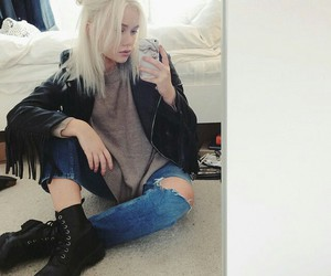 black, blond, and boots image