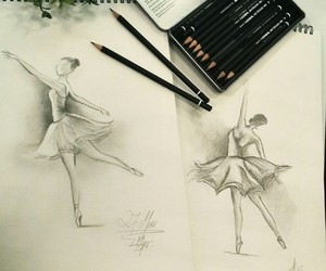 ballerinas, drawing, and sketch image