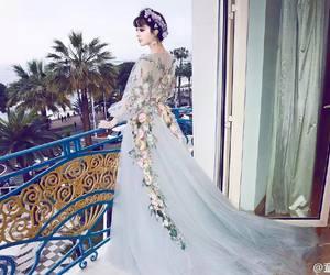 dress, floral, and flower dress image