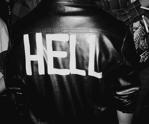 hell, jacket, and leather image