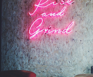 cafe, neon lights, and words image