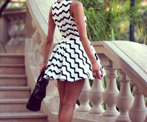 bun, dress, and fashion image
