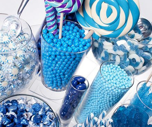 sweet, blue, and candy image
