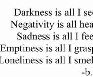 Darkness, quote, and emptiness image