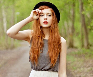 hat, redhead, and hair image
