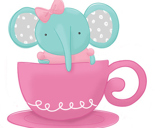 cup, cute, and elephant image