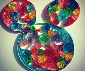 diy, mickey, and quilling image