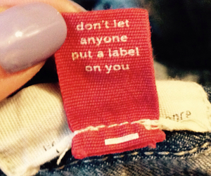 tag, clothes, and label image