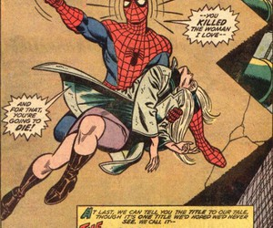 gwen stacy, spiderman, and Marvel image