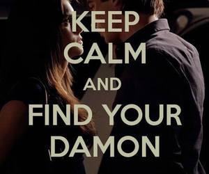 damon, keep calm, and ian somerhalder image
