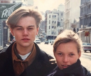 kate moss, leonardo dicaprio, and model image