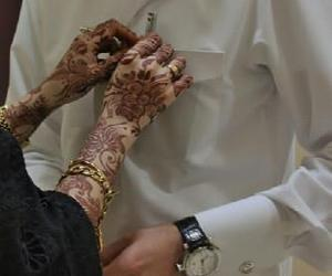 couple, muslim, and henna image
