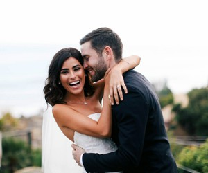 beautiful, wedding, and couple image
