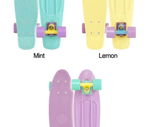 mint, lilac, and yellow image