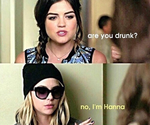 pll, pretty little liars, and hanna image