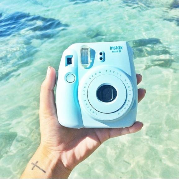 polaroid, camera, and mint image