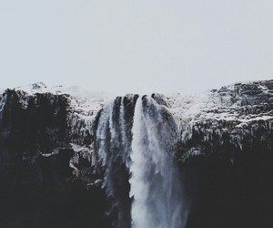 be free, water, and waterfall image
