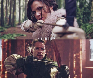 once upon a time, outlaw, and robin hood image