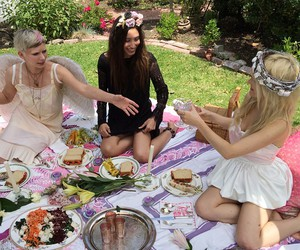 girly, picnic, and tea party image