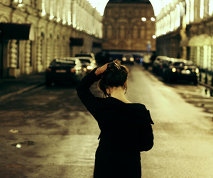 girl, alone, and street image