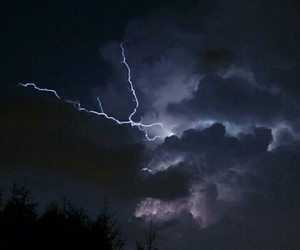 sky, lightning, and dark image