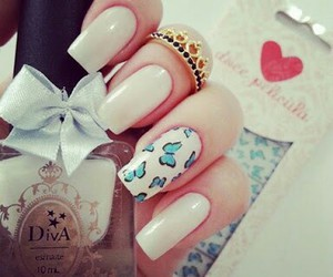 nails, butterfly, and white image