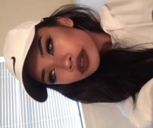 girl, makeup, and nike image