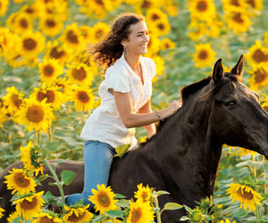 equestrian, flowers, and freedom image