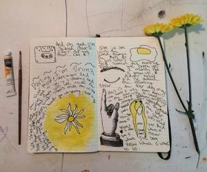 yellow, tumblr, and art image