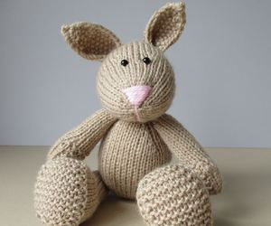 handmade, knitted, and bunnies image