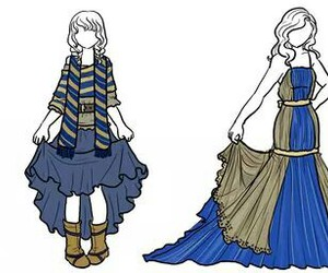 blue, ravenclaw, and dress image