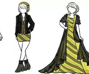 hufflepuff, dress, and harry potter image