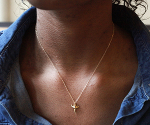 shark tooth necklace and gold shark tooth necklace image