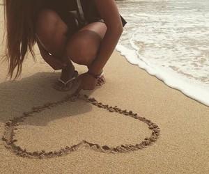 beach, california, and girls image