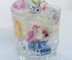 flowers, ice, and drink image