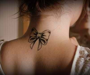 bow, cute, and girl tattoo image