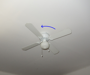 blue, fan, and white image