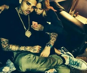chris brown, couple, and karrueche image
